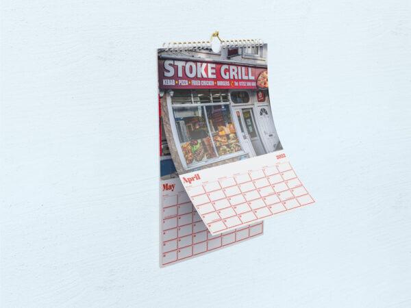 Inside of Kebab Shops o' Plymouth 2022 Calendar