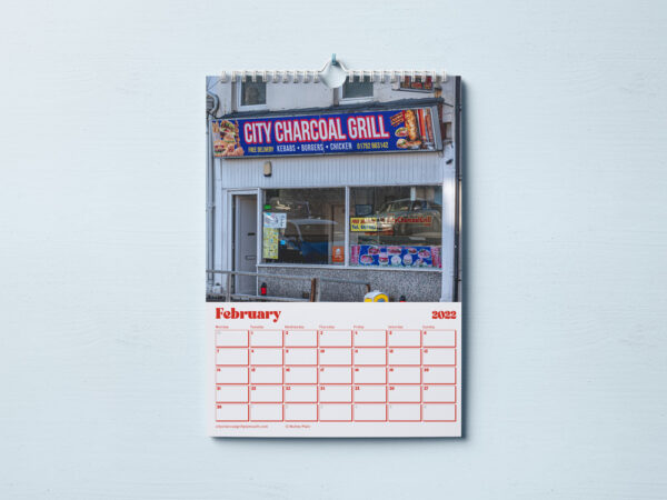 Inside of Kebab Shops of Plymouth Calendar 2022 - Showing City Charcoal Grill