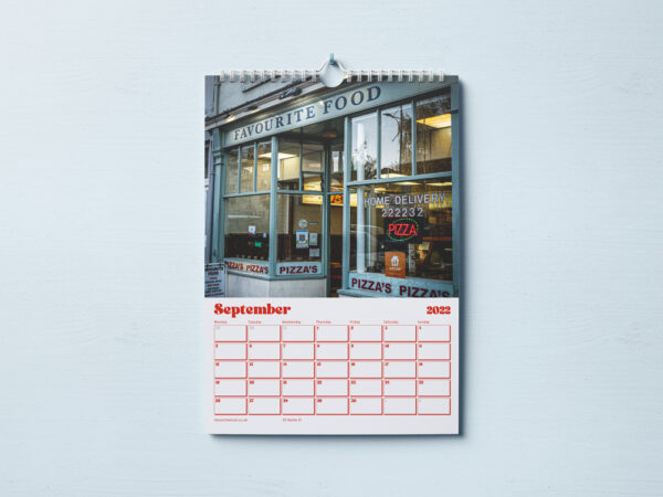 Inside of Kebab Shops of Plymouth Calendar 2022 - Showing Favourite Foods